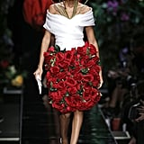 The Puerto Rican Model Wore a Skirt Made of Flowers