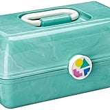 Caboodles On-the-Go Girl Sea Foam Marble Vintage Case