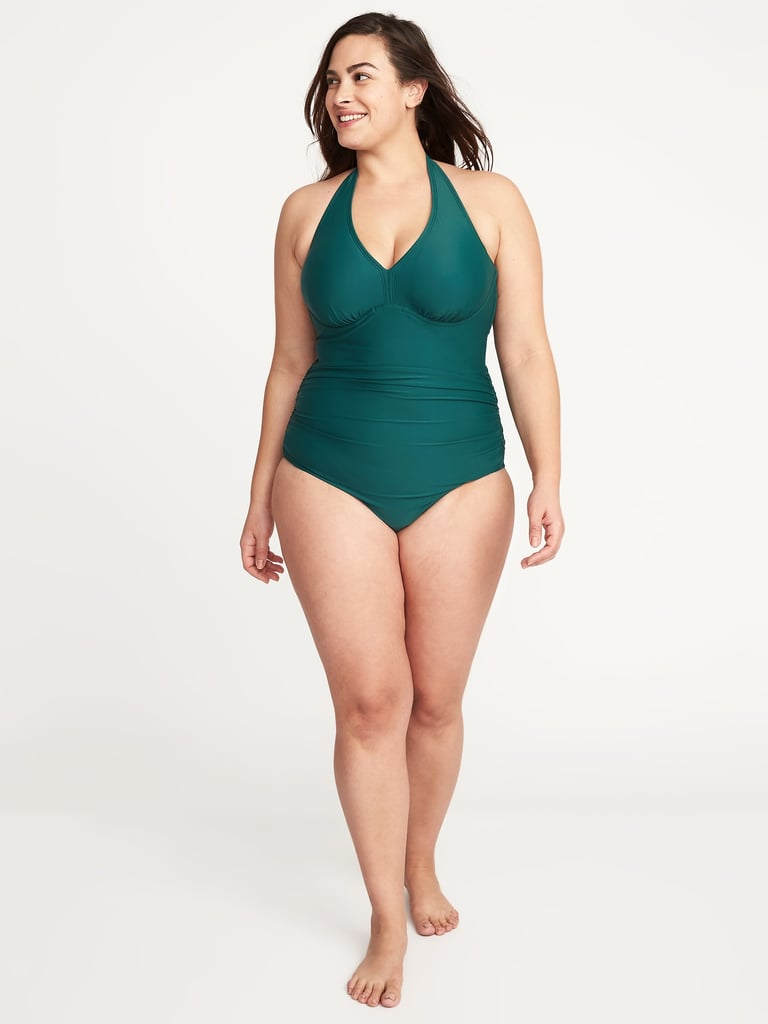 7b2e6a8a7bc Kendall Jenner Green One Piece Swimsuit 2018 | POPSUGAR Fashion
