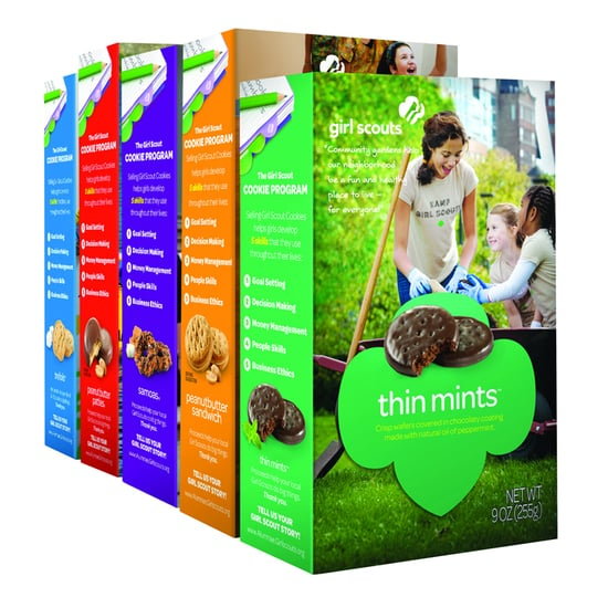 Girl Scout Sells Cookies Outside Pot Club