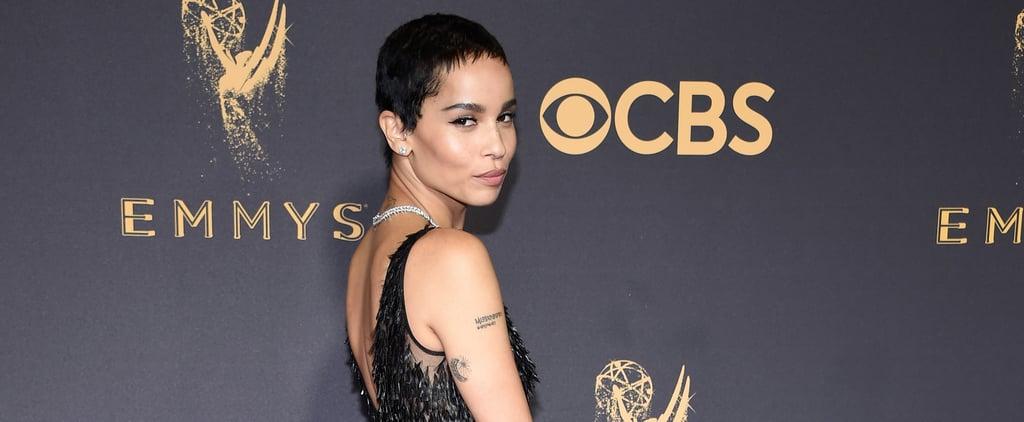 Zoe Kravitz Dior Dress Emmys 2017