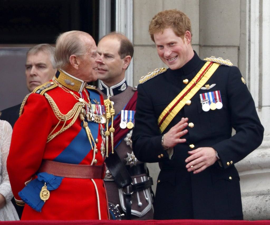 He and Harry chatted during the Trooping the Colour in June 2014.