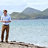 Prince Harry With Turtles in the Caribbean 2016