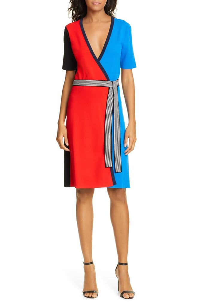 DVF Francine Colorblock Wrap Dress