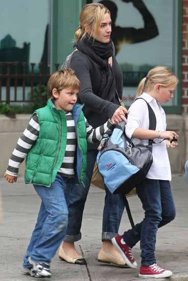 Pictures of Kate Winslet With Joe and Mia in New York
