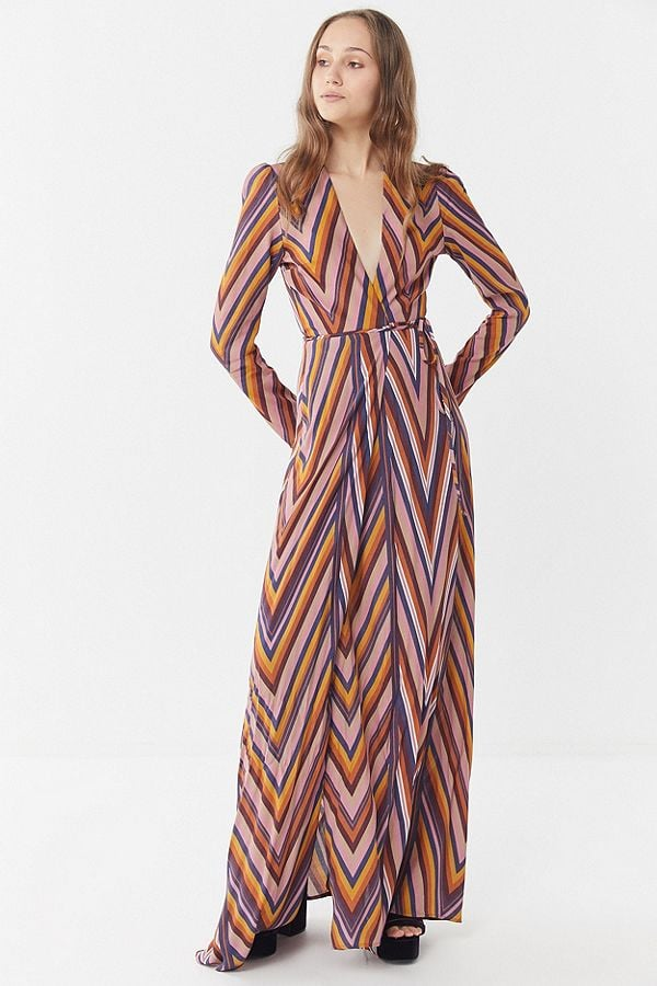 739ffaa0a0 Flynn Skye Kate Striped Wrap Maxi Dress