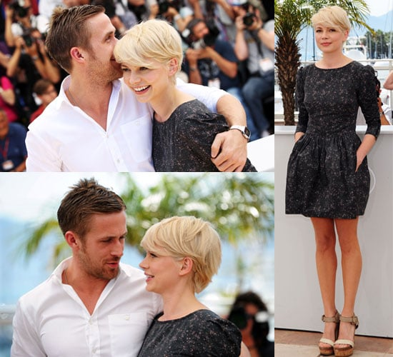 Pictures of Michelle Williams and Ryan Gosling Cuddling and Promoting Blue Valentine at Cannes Film Festival 2010
