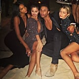 """Selena Gomez posted the same photo as Chanel Iman and said she was trying to be """"real model-y type"""" and that it was """"not working."""" OK, Selena, whatever you say. . ."""