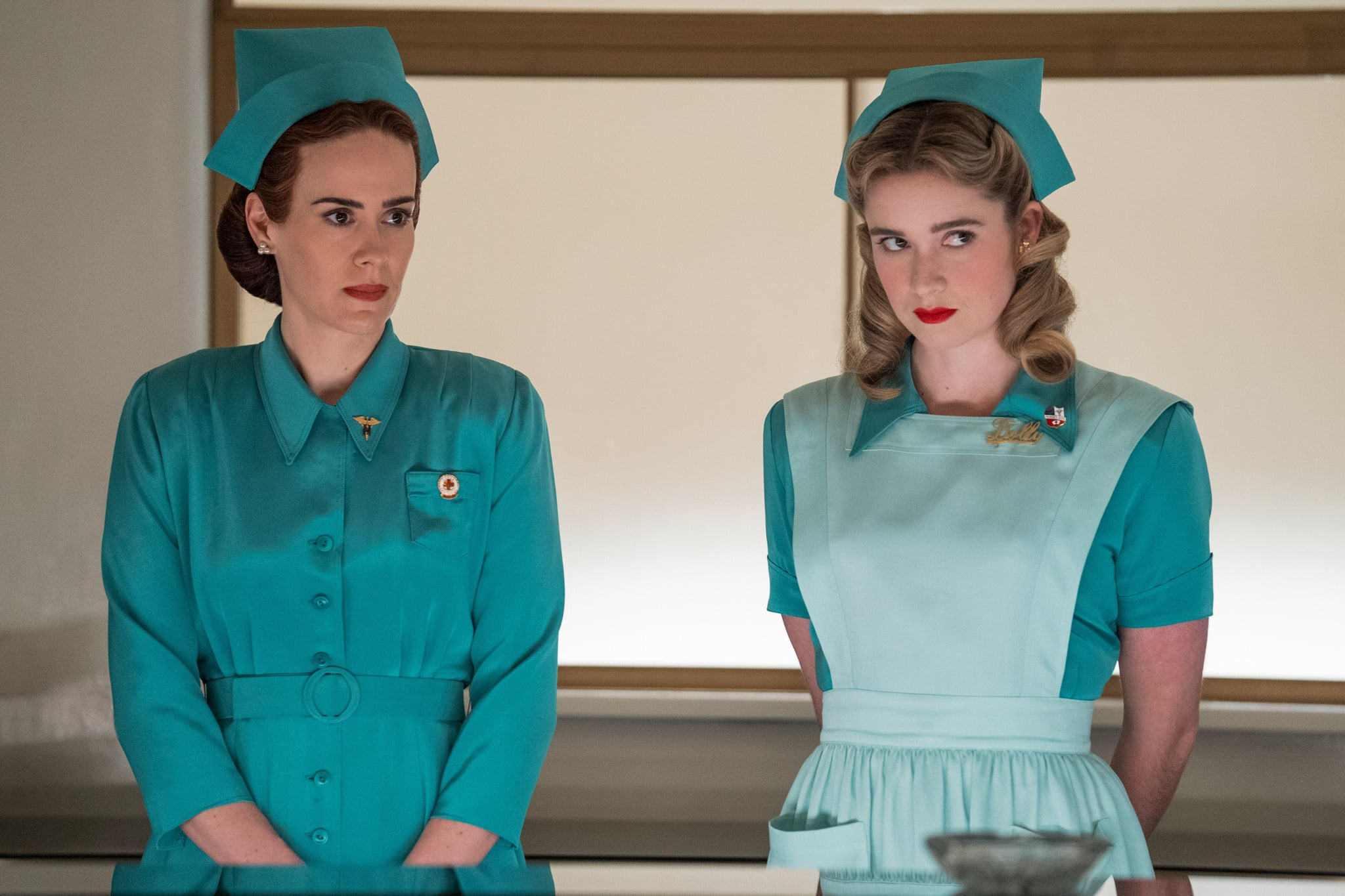 RATCHED, from left: Sarah Paulson, Alice Englert, Pilot, (Season 1, ep. 101, aired Sep. 18, 2020). photo: Saeed Adyani / Netflix / Courtesy Everett Collection