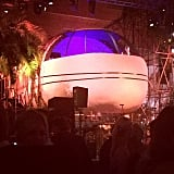 The scene at Chopard's big Cannes bash, which drew supermodels like Alessandra Ambrosio and Adriana Lima, was over-the-top in the best way possible. Held inside an airport hangar, the party was also host to a jumbo jet as the centerpiece of the decor. The DJ actually spun from inside its cockpit!