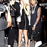 Kylie Changed Into a Shimmering LBD When Tyga Presented Her With a New Ferrari