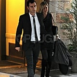 Jennifer Aniston & Justin Theroux at Christie's NYC Pictures