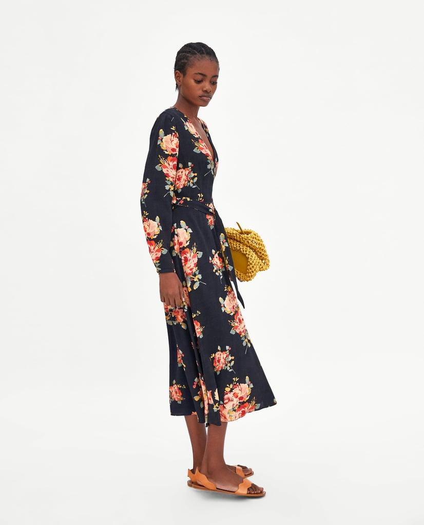 a9791c75a8f Zara Floral Print Midi Dress