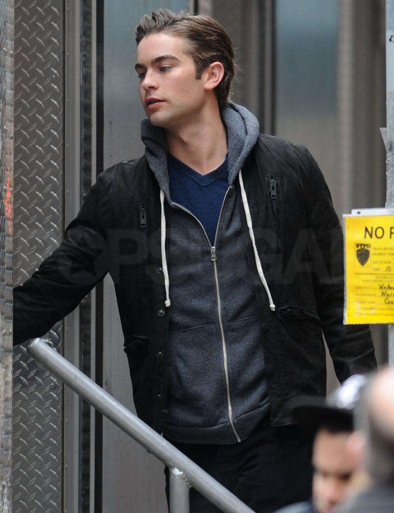 Photos of Gossip Girl Cast Filming Season Three