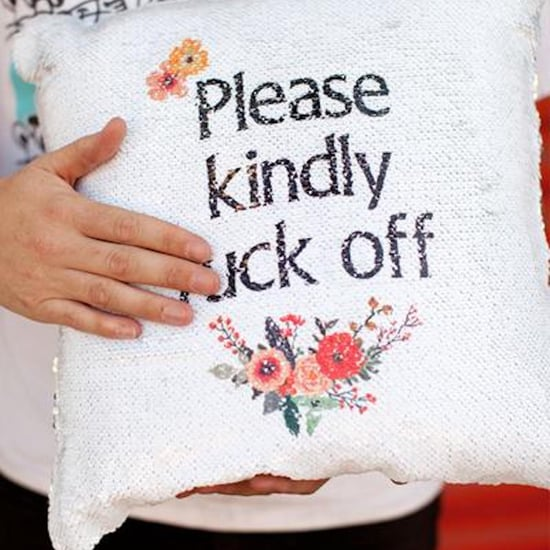"""""""Kindly F*ck Off"""" Reversible Sequin Pillow"""