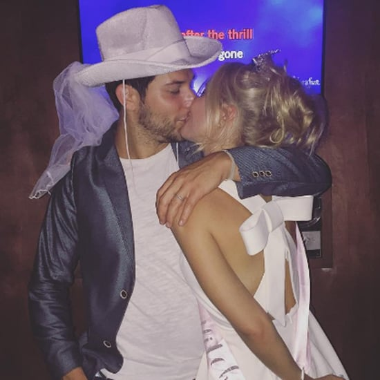 Anna Camp and Skylar Astin Bachelor and Bachelorette Party