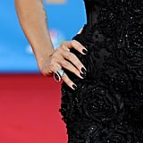 So much detail went into Heidi Klum's Marchesa LBD. Stunning.