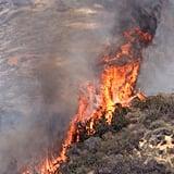 A wildfire broke out in Glendora, CA.
