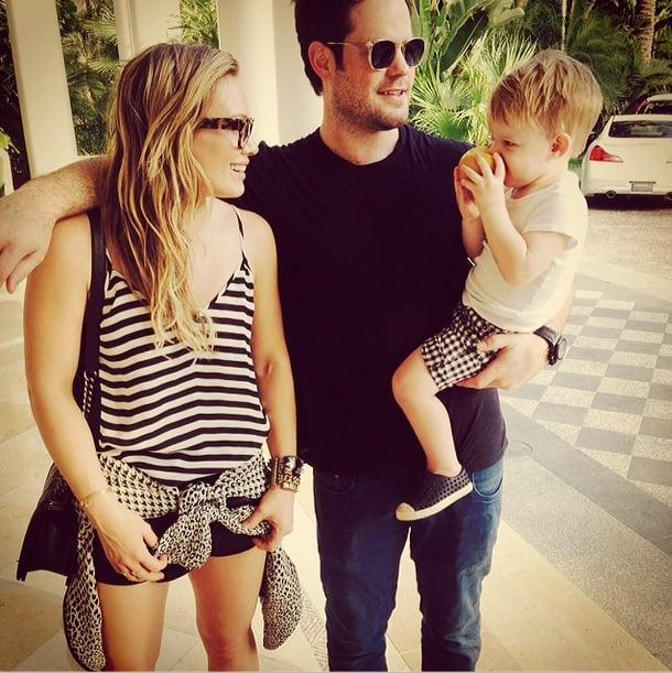 """Hilary Duff went on a Valentine's Day vacation with her son, Luca, and her ex, Mike Comrie. She captioned this picture """"#modernfamily."""" Source: Instagram user hilaryduff"""