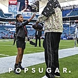 Blue Ivy Playing Football at the Super Bowl 2020