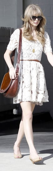 Taylor Swift Crochet Dress Brown Saddle Bag