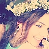 Kendall Jenner wore a flower crown at her sister Kim Kardashian's baby shower. Source: Instagram user KendallJenner