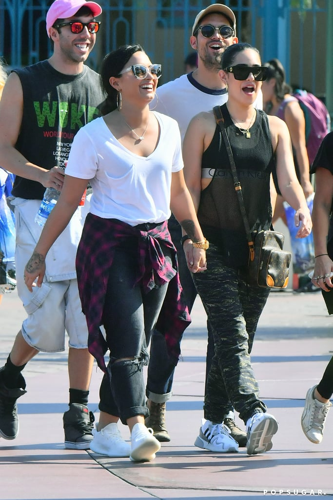 Demi Lovato Holds Hands With Lauren Abedini at Disneyland
