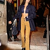 Bella Hadid Leaving the Jean-Paul Gaultier Show in Paris