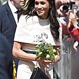 Meghan Holding Her Flowers 2018