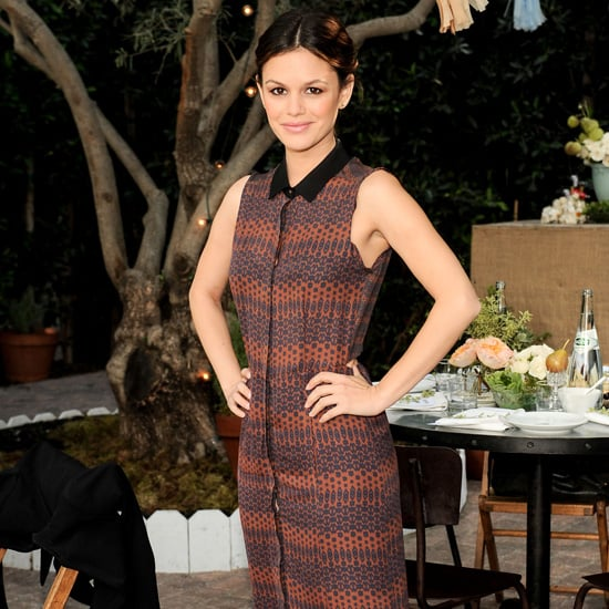 Rachel Bilson Wearing Printed Maxi Shirtdress