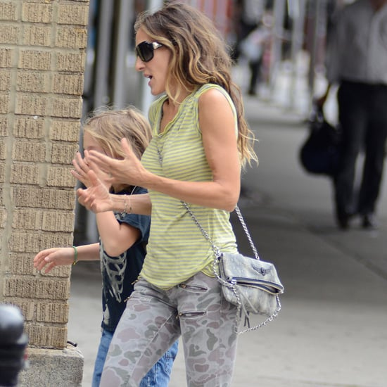 Sarah Jessica Parker Wearing Camouflage Jeans