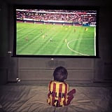 Are you surprised? With a dad like Gerard and a name like Milan, fútbol is in his blood.