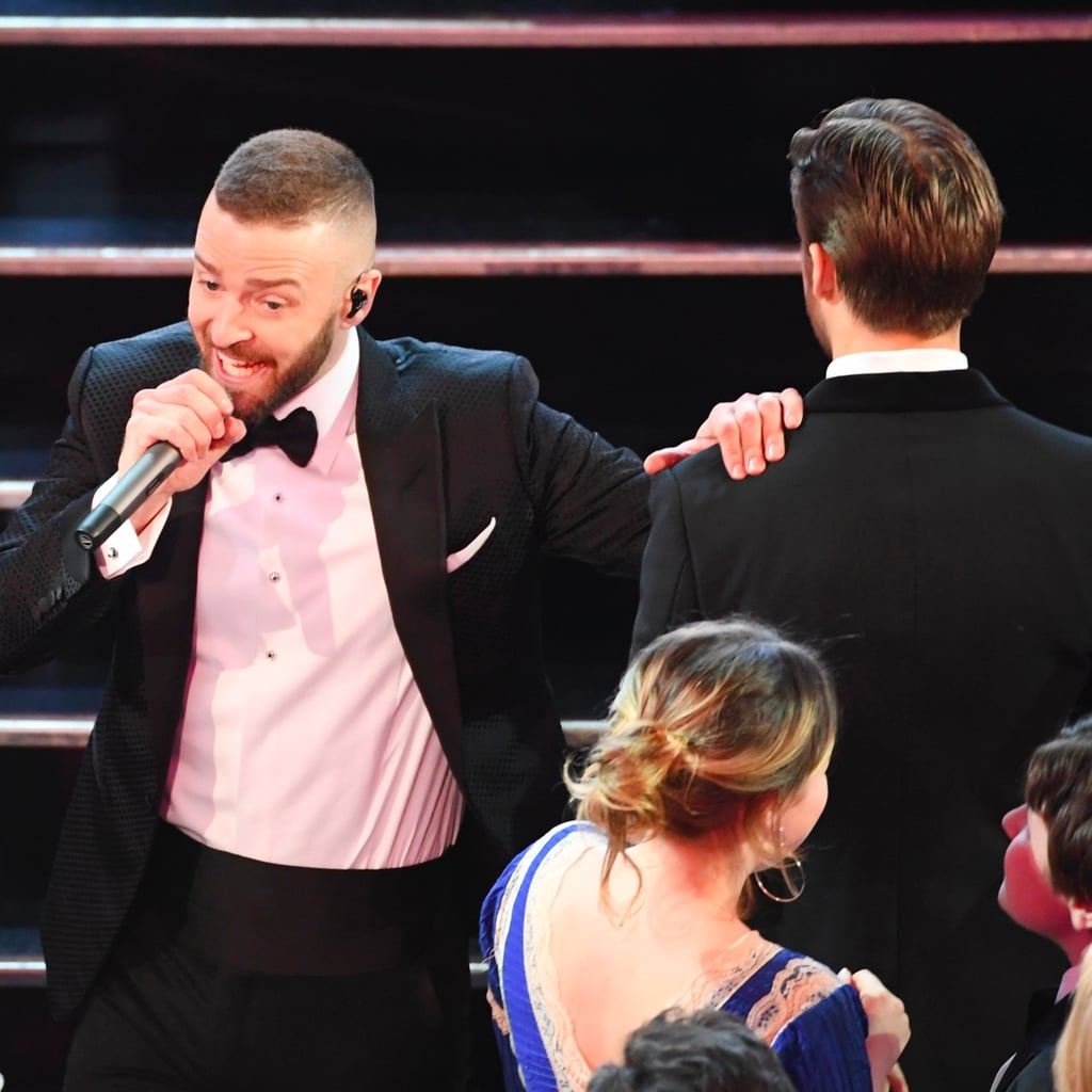 Justin Timberlake and Ryan Gosling at the 2017 Oscars