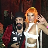 Adrianne Curry dressed as Leeloo from The Fifth Element. Source: Twitter user adriannecurry