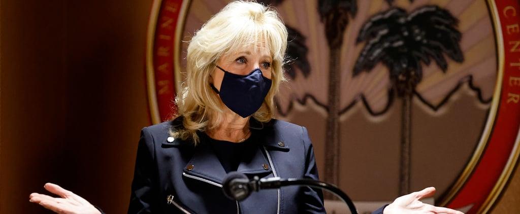 "Jill Biden's ""Superwoman"" Capes Are Veronica Beard Jackets"