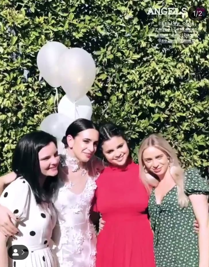 "Selena Gomez is focusing on her family and friends following her stint in rehab last year. Over the weekend, the 26-year-old singer helped throw one of her best friends, Courtney J. Barry, a beautiful bridal shower. Selena stunned in a gorgeous red dress and looked so happy as she posed for fun snaps with her girlfriends. Alongside a photo of herself sipping a drink, Courtney told the sweet story about how her romance with fiancé Sam Lopez came to be. ""Two years ago, @sam._lopez professed his love for me in this backyard (sort of) on my birthday and I was like whaaaat,"" she explained. ""Last year I told him I thought I might marry him so we started dating and here we are, weeks away from getting married."" Courtney and Selena have been friends for years, and she is also one of Selena's roommates. In fact, the girls are so close that back in August 2018, they got matching tattoos. ""My actual #1 @courtneyjbarry you are an incredible woman,"" Selena wrote on Instagram. ""A loving sister, an amazing friend and a beautiful daughter. You are the definition of FEARFULLY and WONDERFULLY made baby! #1."" We wonder if Selena will be serving as Courtney's maid of honor? Guess we'll just have to wait and see."