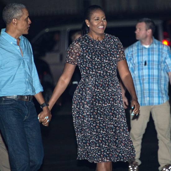 Michelle Obama's Floral Dress Leaving Hawaii January 2017