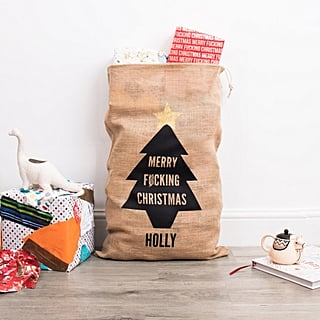 Swear Word Christmas Sack