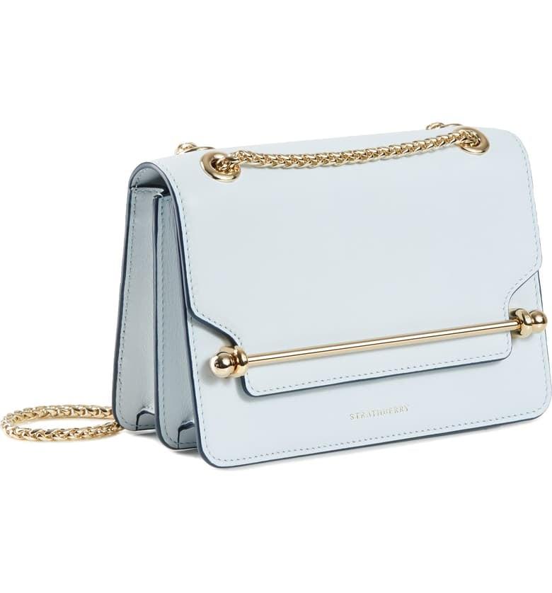 Cinderella: Strathberry Mini East/West Leather Crossbody Bag