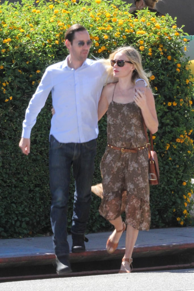 Kate Bosworth and Michael Polish grabbed a bite together in Beverly Hills.