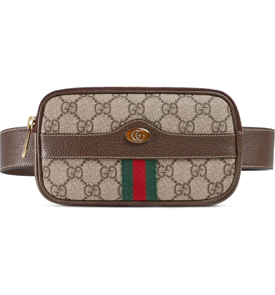 a76c6e80409 Gucci Ophidia GG Supreme Small Canvas Belt Bag