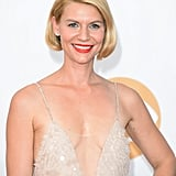Don't worry! Claire Danes didn't get the big chop. But her faux bob is definitely up for the best hair award of the night.