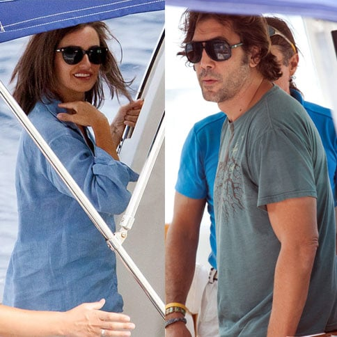 Javier Bardem and Penelope Cruz Boating in Croatia Pictures