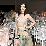 This simple necklace is just what Anne Hathaway needed to give her sweet dress a slightly edgier feel.