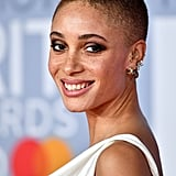 Adwoa Aboah's Simple, Smudgy Shadow at the 2020 BRIT Awards