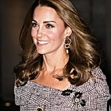 Kate Styled Her Erdem Dress With Erdem Floral Earrings