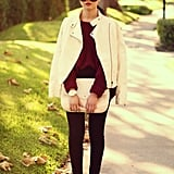 Readdress your colour palette with a splash of white. Source: Lookbook.nu