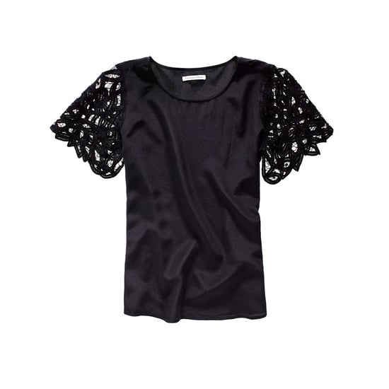 Madewell Lattice Lace Silk Top, $98