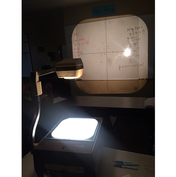 Knowing how hard it was to stay awake when a overhead projector was used.