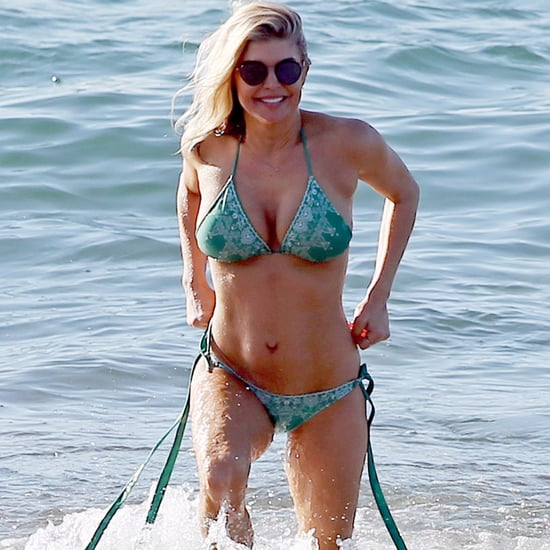 Fergie and Josh Duhamel on the Beach in Hawaii January 2017
